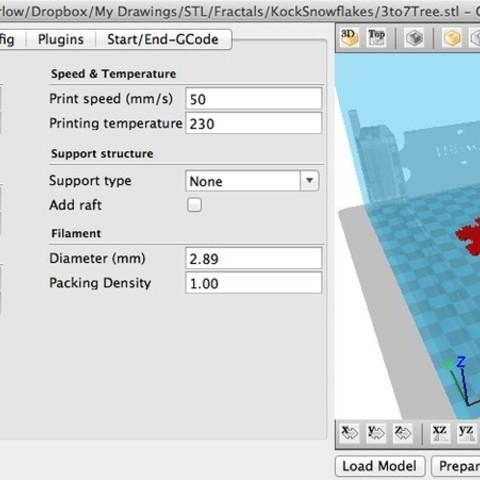 1to7TreeSettings_display_large.jpg Télécharger fichier STL gratuit Joyeux Noël Professeur Koch ! • Objet à imprimer en 3D, Darkolas