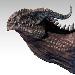 ZBrush_Document_display_large.jpg Download free STL file Dragon Bust • Design to 3D print, Darkolas