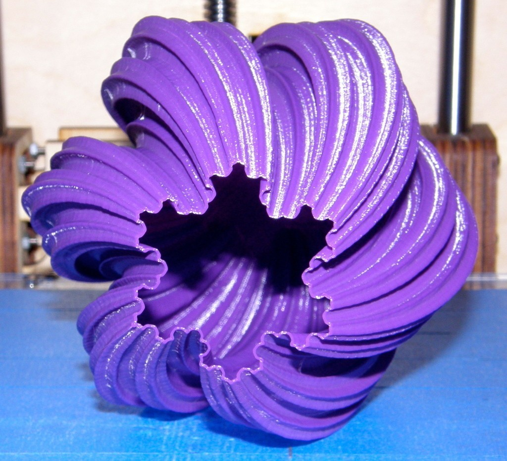 P1060082_display_large.jpg Download free STL file Large Twisted Koch Snowflake Vase • 3D print design, Darkolas
