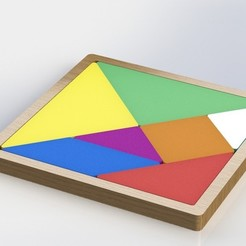 Download free 3D model Tangram -- Old game with a rethink of 3d Print, Darkolas
