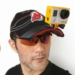 Free 3D printer designs Cap mount for GoPro Hero 3 Black Edition, Darkolas
