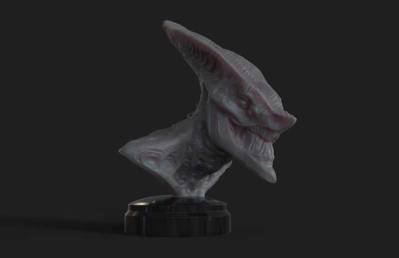 19add4729466a6be6f3dbf53729cb76c_display_large.jpg Download free STL file Creepy Bust. • 3D printable design, Darkolas