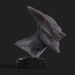 Free 3D printer files Creepy Bust., Darkolas