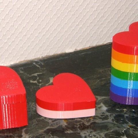 Download free 3D printer model Small Modular Heart Box for Valentines Day, Darkolas