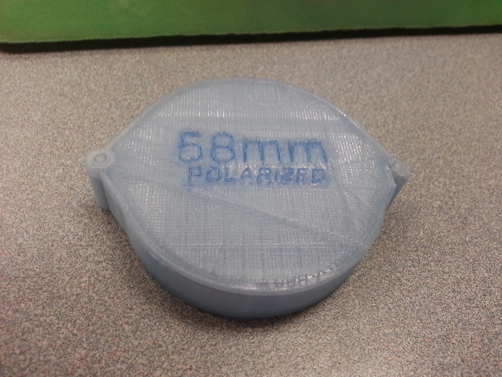 2013-04-03_16.52.02_display_large.jpg Download free STL file RocketFish 58mm Polarized Lens Case - No Screws or Magnets • Template to 3D print, Not3dred