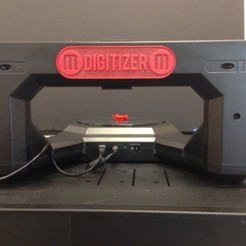 Download free 3D printing models Makerbot Digitizer Back Name Plate, Not3dred