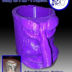 Download free 3D printer designs Clay 2 PLA Project - Clay Cup, Not3dred