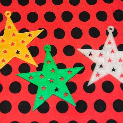 Fancy_stars_display_large.jpg Télécharger fichier STL gratuit Étoile 5 points fantaisie • Objet à imprimer en 3D, Not3dred