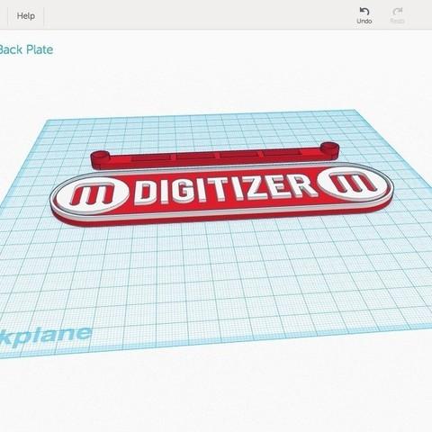 TinkerImage_display_large.jpg Télécharger fichier STL gratuit Plaque d'identification du dos du numériseur Makerbot • Modèle pour impression 3D, Not3dred