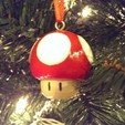 Download free 3D printer designs Super Mario Mushroom 1up Tree Ornament, Runstone