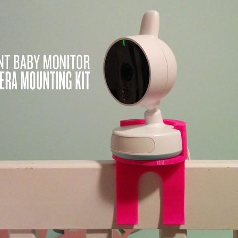 Free 3D print files Avent Baby Monitor Camera Mounting Kit, Runstone