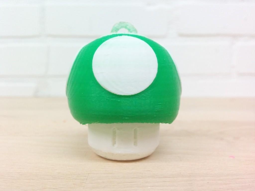 IMG_20141013_211736_display_large.jpg Download free STL file Super Mario Mushroom 1UP Hanger (Dual & Modular Single Extrusion) • 3D printable design, Runstone