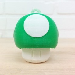 Télécharger STL gratuit Cintre Super Mario Mushroom 1UP (Extrusion simple double et modulaire), Runstone