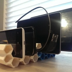 Download free 3D printing templates Mobile Device Modular Honeycomb Stand, Runstone
