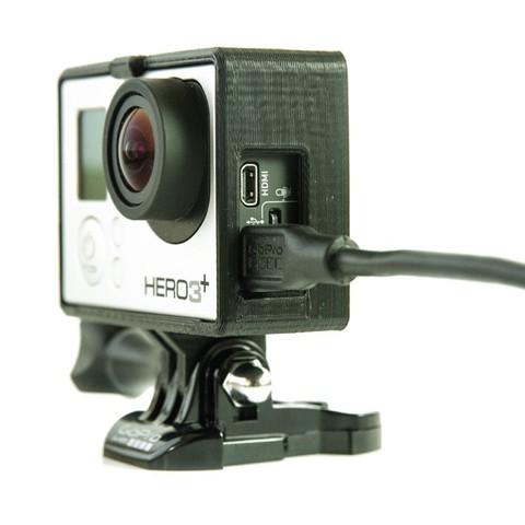 Télécharger fichier impression 3D gratuit GoPro Frame (Hero 3 / 4) & Bacpac, Runstone