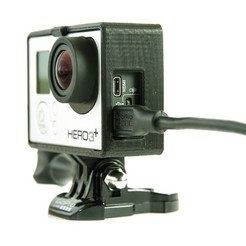 Download free STL files GoPro Frame (Hero 3 / 4) & Bacpac, Runstone