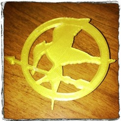 Download free STL MockingJay Pin, Runstone