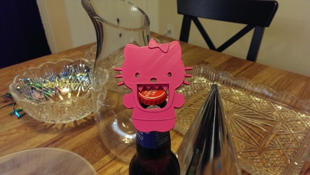 Kitty2_display_large.jpg Télécharger fichier STL gratuit Ouvre-bouteille Hello Kitty • Objet pour impression 3D, Runstone