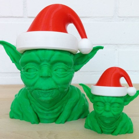 zyyx_3d_printer_review_yoda_christmas_hat_display_large.jpg Download free STL file Yoda Christmas Hat • 3D printable design, Runstone