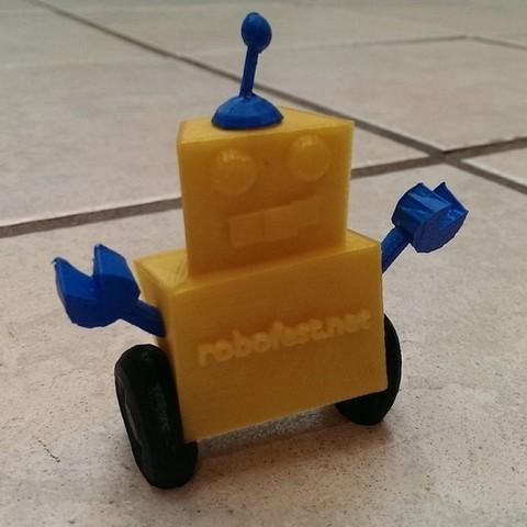 Télécharger objet 3D gratuit Mascotte Robofest !, Runstone