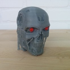 Download free 3D printer designs T-800 Terminator Skull for Dual Extrusion, Runstone