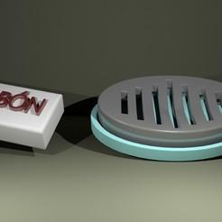 JABONERA_v2.jpg Download free STL file Soap dish • Object to 3D print, Megahercio