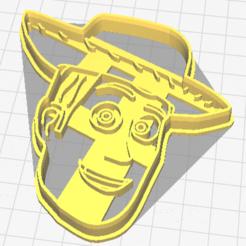 Download 3D printer files Woody, Toy Story cookie cutter, geunaandrea