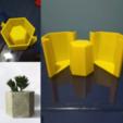 maceta_amarilla.png Télécharger fichier STL gratuit Moule à pot hexagonal • Objet à imprimer en 3D, artemisa3d