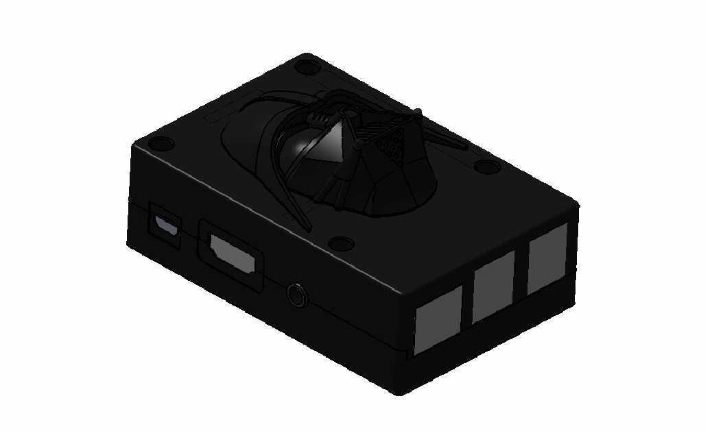 1.jpg Download free STL file raspberry pi 3 b/b+ Star Wars shell • 3D printer template, designprojetscolaire