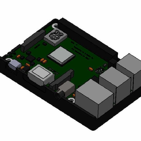 2.jpg Download free STL file raspberry pi 3 b/b+ Star Wars shell • 3D printer template, designprojetscolaire