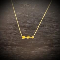 Download 3D printer designs necklace, jewelry, arrow, beauty, fashion, bracelet, CARLOSVALLELLANES