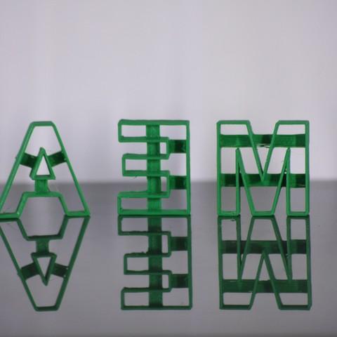 STL Letter cutter Alphabet A-Z Small 25mm, Abby309