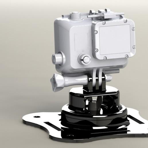 Download 3D printing files Go Pro Swivel Mount, 3D_Workshop