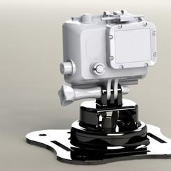Télécharger fichier imprimante 3D Support pivotant Go Pro, 3D_Workshop