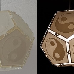 "Download 3D printing models Dodecahedron Lampshade ""YinYang"", 3D_Workshop"