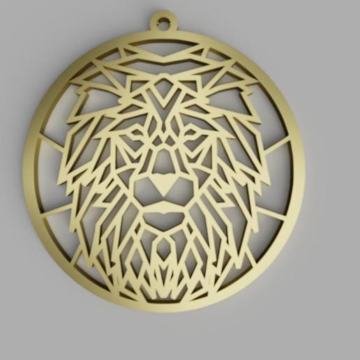 Download 3D model Lion Pendant, 3D_Workshop