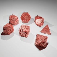DicerSetRenderTIWfull02.png Download STL file Dice Set : Melted in lava mountain   • 3D print model, The-Inner-Way