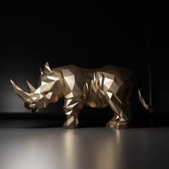 Rhino01.png Download STL file Rhinoceros • 3D printing template, The-Inner-Way