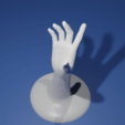 3D print model Jewelry Hand Holder: Touch it, The-Inner-Way