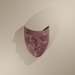 Download 3D printer designs Woman Mask Deco Wall Decoration, The-Inner-Way