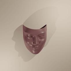 Télécharger fichier impression 3D Woman Mask Deco Murale, The-Inner-Way