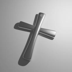 Croix02.png Download free STL file Cross pendant (free) • 3D printer template, The-Inner-Way