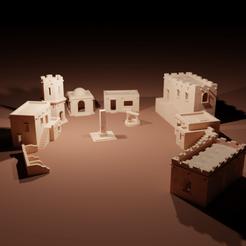 Arabian Village1.png Download STL file Arabian Village • 3D printer design, The-Inner-Way