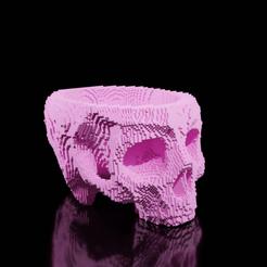 craneblockyversion01.png Download STL file FLOWER POT CREAM (Blockish Version) • 3D printing template, The-Inner-Way