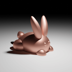 Lapinfront.png Download free 3MF file Rabbit Jewelry Stand • Model to 3D print, The-Inner-Way