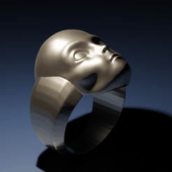STL files Grey Alien Ring, The-Inner-Way