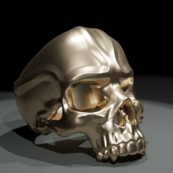 Télécharger plan imprimante 3D Skull Ring: Power design  , The-Inner-Way