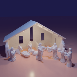 Download 3D model Christmas nativity V2, The-Inner-Way
