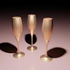 Champagne.png Télécharger fichier 3MF une coupe de champagne • Modèle pour imprimante 3D, The-Inner-Way