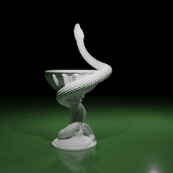 Caducee04.png Download STL file Bowl of Hygieia • 3D print design, The-Inner-Way